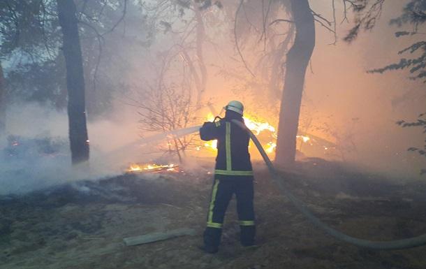 В Луганской области усугубились пожары