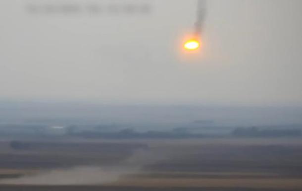 Опубликовано видео горящего вертолета Азербайджана