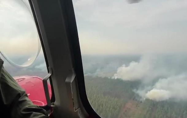 Пожары в Луганской области показали с воздуха