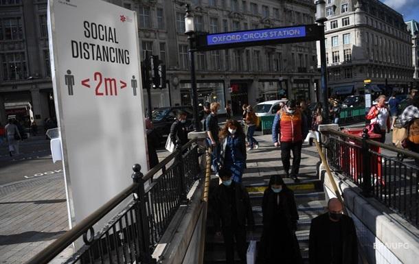 В Британии зафиксировали рекордный суточный прирост коронавируса