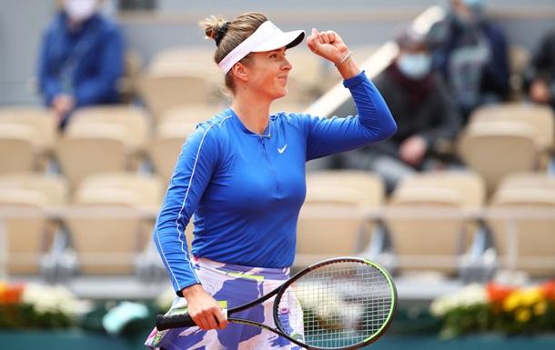 Свитолина уверенно вышла в четвертьфинал Ролан Гаррос