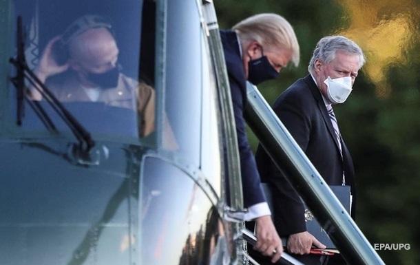 Трамп на короткое время покинул больницу