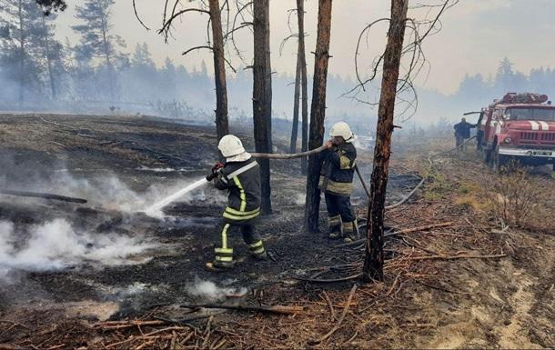 У Луганській області загасили п ять пожеж із семи