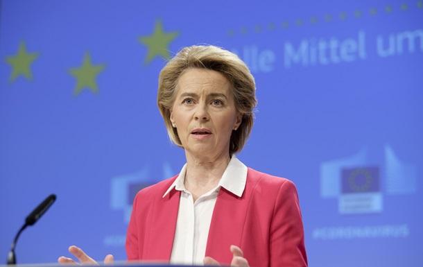 Глава Еврокомиссии ушла на карантин