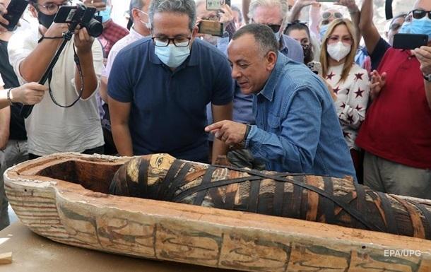 В Египте показали содержание древних саркофагов