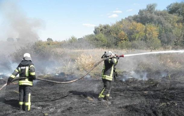 На Луганщине потушен крупный очаг пожаров
