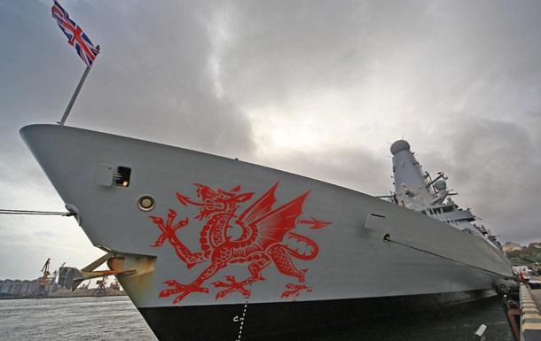 В порт Одессы зашел британский эсминец Dragon