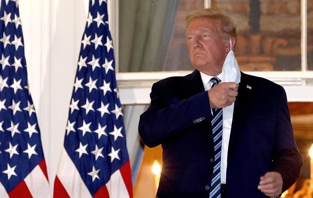 Трамп розповів про свої симптоми коронавірусу