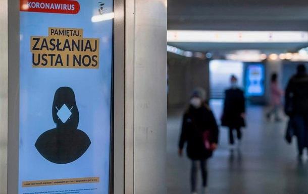 У Польщі зафіксовані рекордні 8099 нових заражень коронавірусом за добу