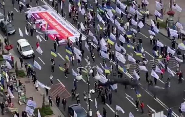 У Києві протестувальники заблокували Хрещатик