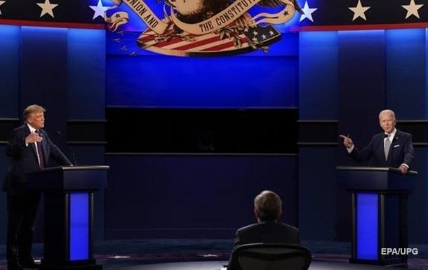 Названі теми фінальних дебатів Трампа і Байдена