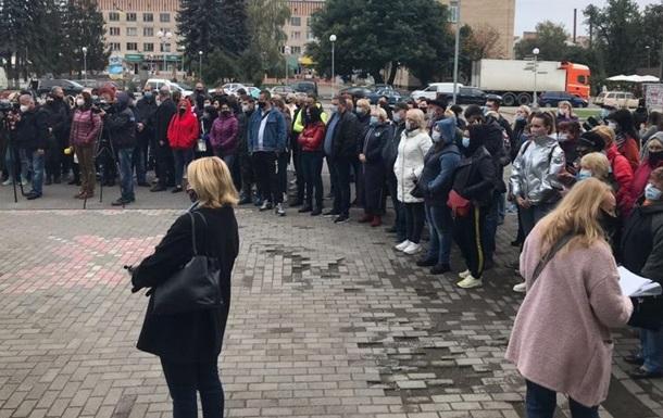 В Смеле протестуют против 'красной' зоны карантина