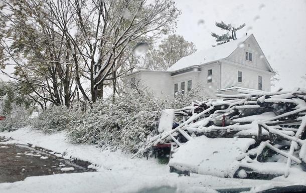 В США разразился зимняя буря