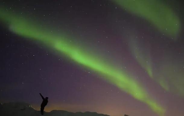 Небо Финляндии украсило северное сияние