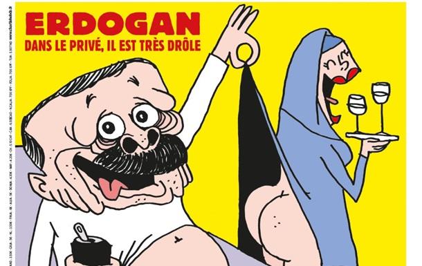 Charlie Hebdo показал обложку с карикатурой на Эрдогана