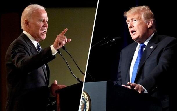 Выборы в США: Байден незначительно опережает Трампа