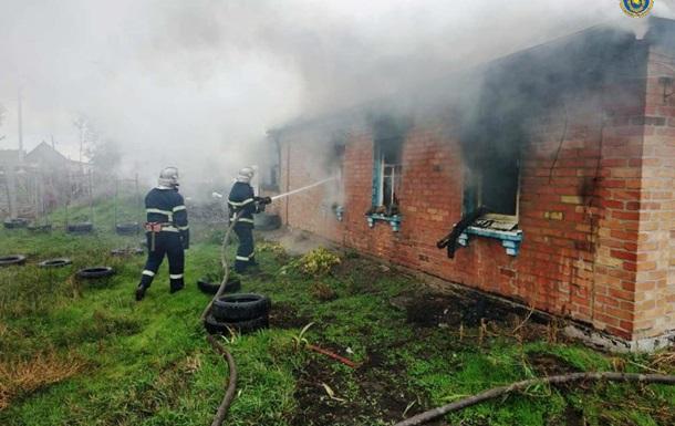 В Черкасской области на пожаре погибли двое взрослых и ребенок