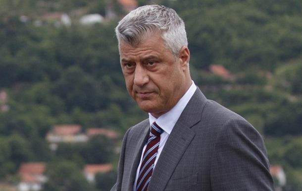 Президент Косово стал обвиняемым и ушел с должности