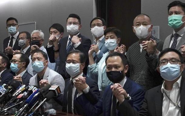 Все оппозиционеры в парламенте Гонконге ушли в отставку