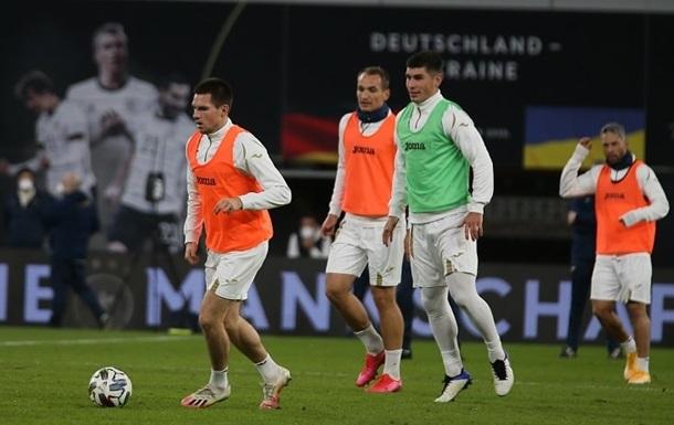 Сборная Украины провела тренировку накануне матча с Германией