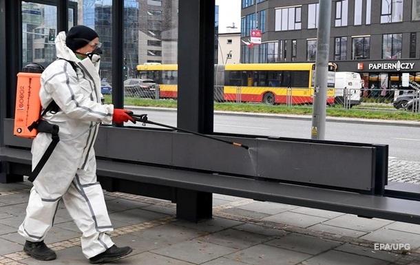 В Польше впервые за сутки более 500 жертв коронавируса