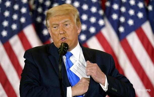 Трамп заявил об  ужасных нарушениях  на выборах и пригрозил исками