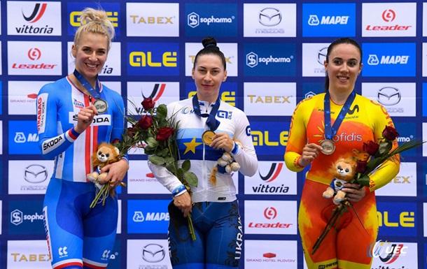 Українці завоювали шість медалей на ЧЄ з велотреку