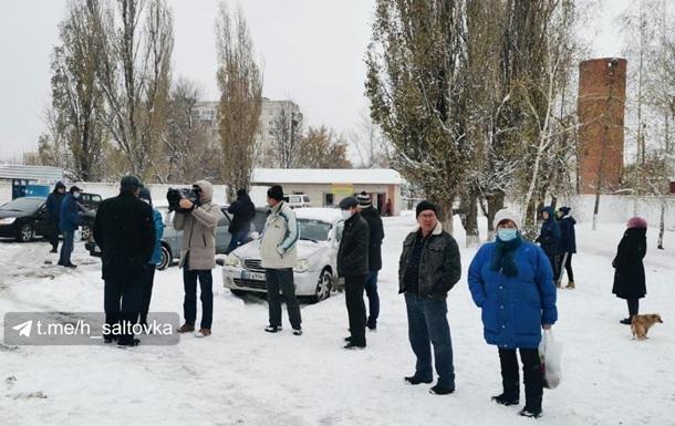 На Харківщині протестують через холод у будинках