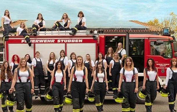В Германии пожарницы разделись для календаря