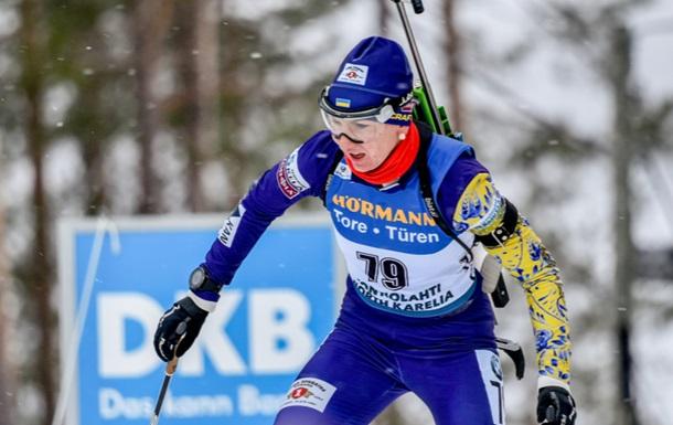 Украинские биатлонистки заняли первые четыре места на контрольной индивидуальной гонке