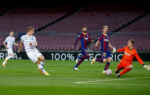 Смотреть онлайн Динамо - Барселона 24 ноября 2020