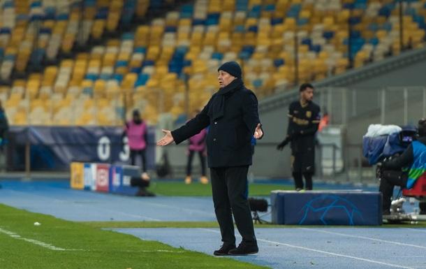 Домашнее поражение от Барселоны стало для Динамо крупнейшим при Луческу