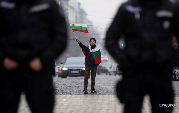 Болгарские полицейские провели забастовку в центре Софии