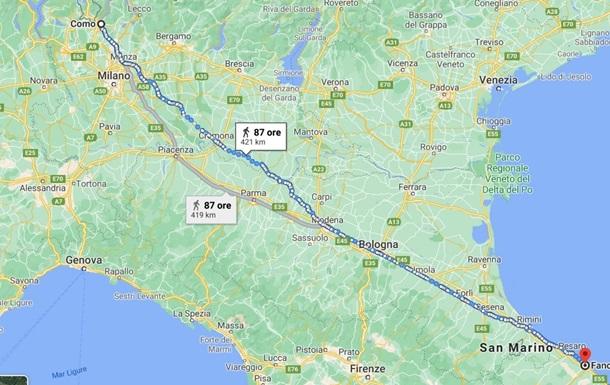 Итальянец прошел 450 км, чтобы остыть после ссоры с женой