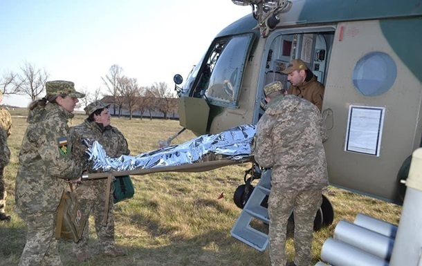 The artillery was used in Donbass, where a soldier in the Ukrainian army was wounded