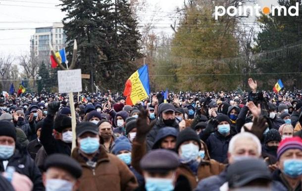 У Молдові протестують прихильники Санду