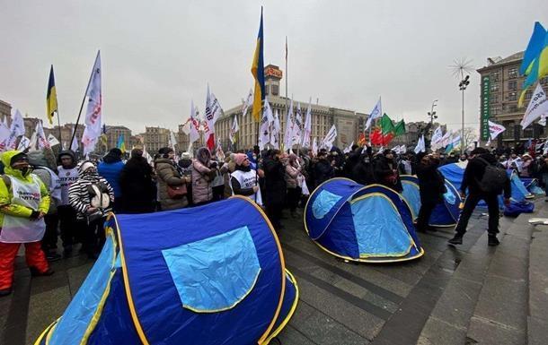 ФОПы сворачивают свои палатки на Майдане