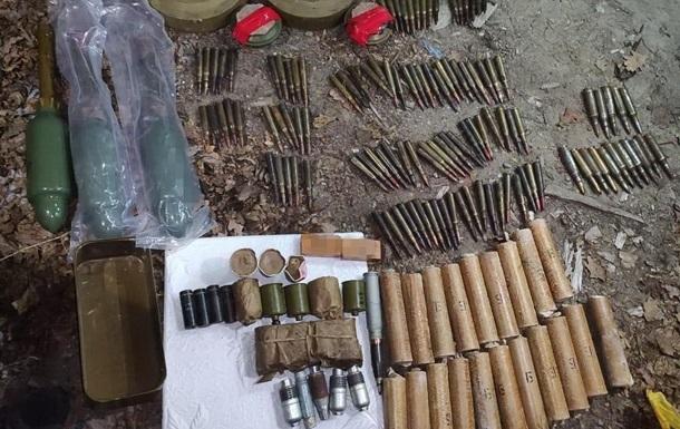 СБУ обнаружила тайник с оружием вблизи линии разграничения