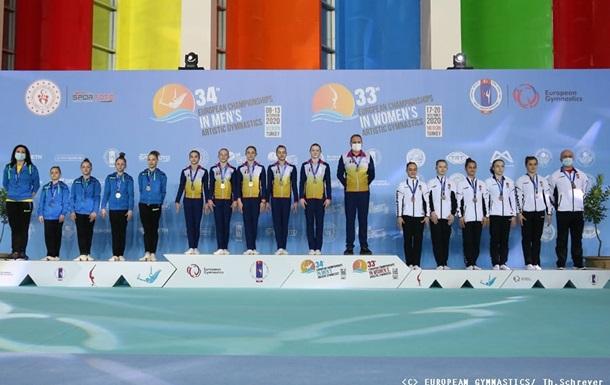 Українські юніорки здобули срібло на чемпіонаті Європи зі спортивної гімнастики