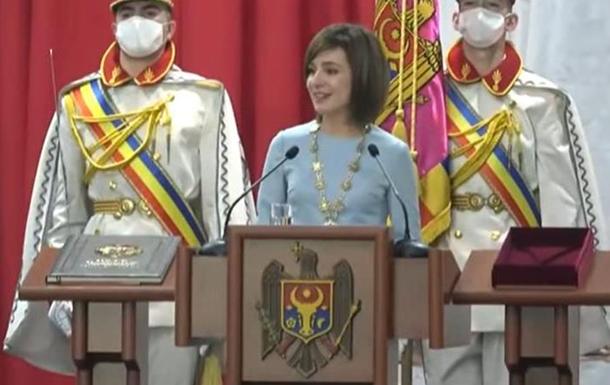 Президент Молдовы на инаугурации сказала фразу на украинском языке