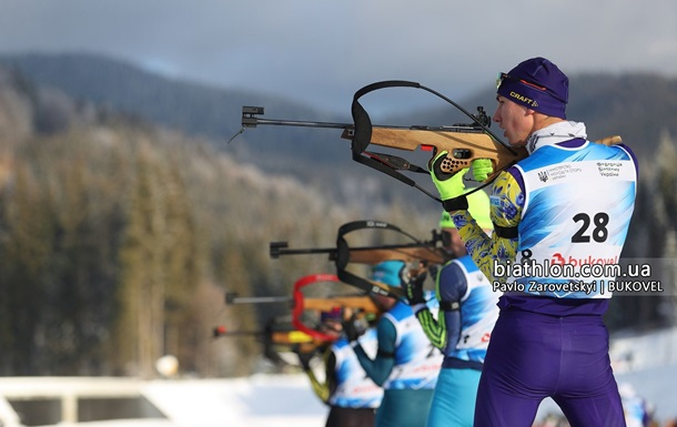 Биатлон: Тищенко выиграл четвертую золотую медаль ЧУ-2020