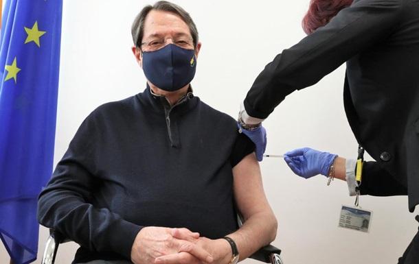 Президент Кипра получил COVID-прививку от Pfizer