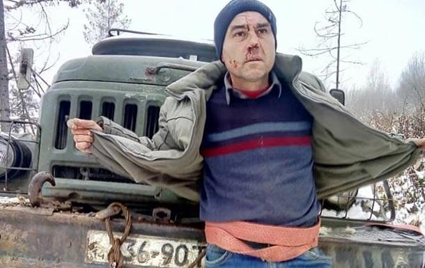 На Львівщині лісоруби побили і прив язали до авто активіста
