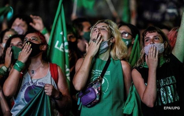 В Аргентине легализировали аборты, на улицах ликование