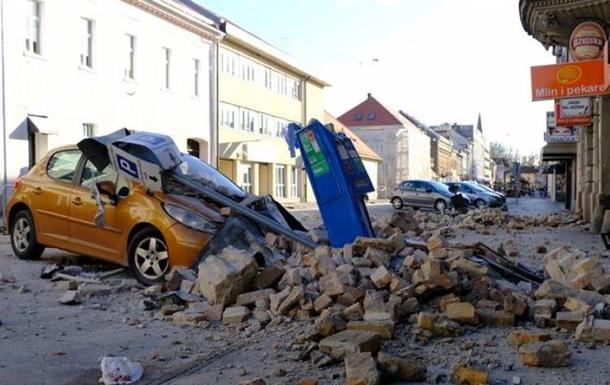 В Хорватии момент землетрясения попал в прямой эфир