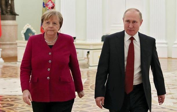 Меркель и Путин обсудили урегулирование в Украине