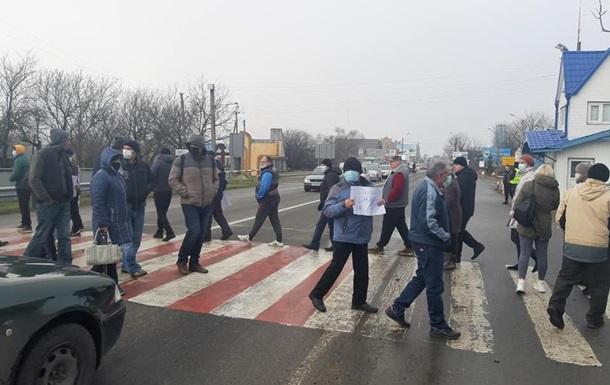 На Прикарпатье протестующие перекрыли трассу