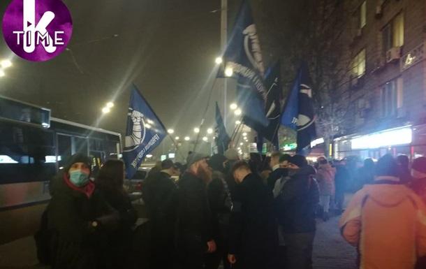 В Киеве националисты протестуют под посольством Израиля