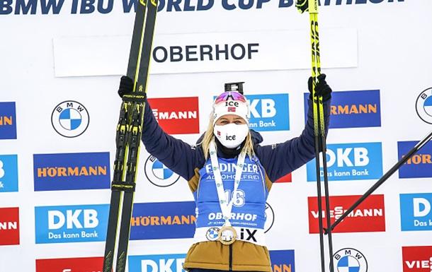 Биатлон: Экхофф выиграла гонку преследования в Оберхофе, Джима в топ-15