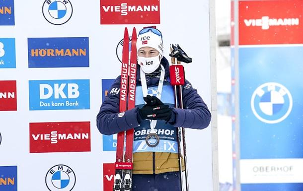 Биатлон: Легрейд выиграл гонку преследования в Оберхофе, Прима – 30-й